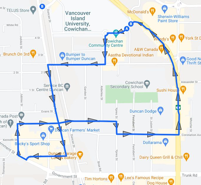 Duncan Freedom Rally March Route